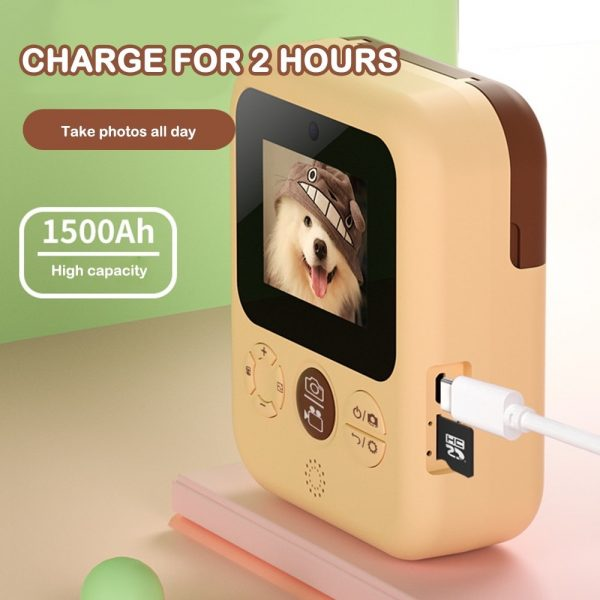 Polaroid Thermal Printing Children's Camera front and rear 12 million dual cameras with 2.4 inch IPS HD screen_3