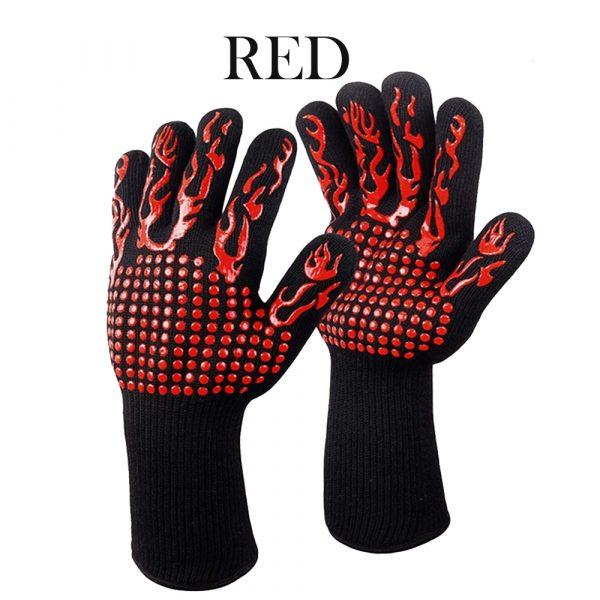 1 Pair 2 Hand 500 degrees High Temperature Resistant Food Oven Glove_10