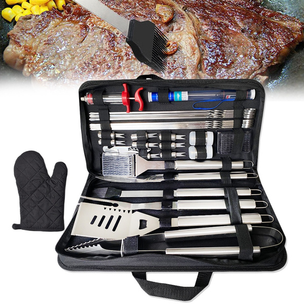 30Pcs Stainless Steel Barbecue Tool Set and Cooking Tools for Outdoor Camping_10
