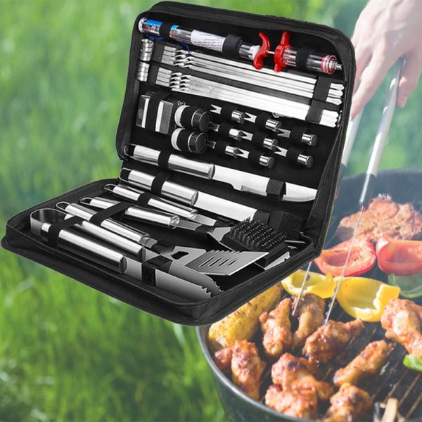 30Pcs Stainless Steel Barbecue Tool Set and Cooking Tools for Outdoor Camping_11