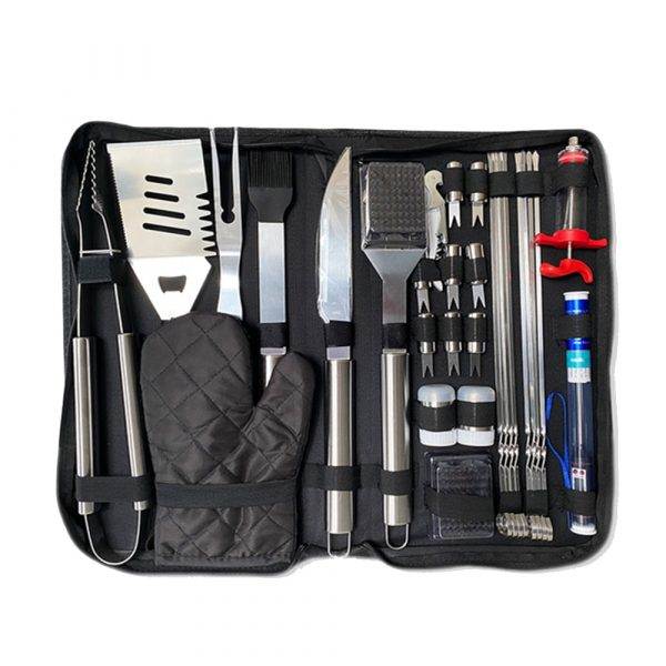 30Pcs Stainless Steel Barbecue Tool Set and Cooking Tools for Outdoor Camping_9
