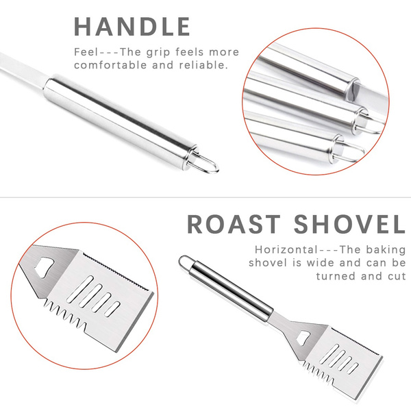 30Pcs Stainless Steel Barbecue Tool Set and Cooking Tools for Outdoor Camping_14
