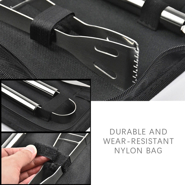 30Pcs Stainless Steel Barbecue Tool Set and Cooking Tools for Outdoor Camping_15