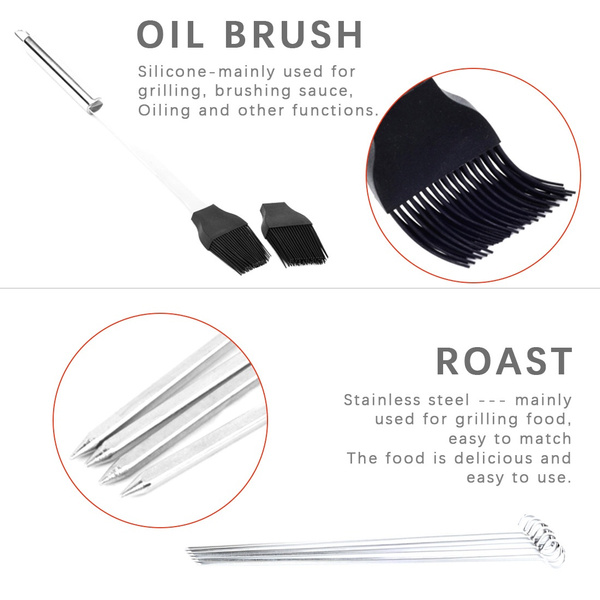 30Pcs Stainless Steel Barbecue Tool Set and Cooking Tools for Outdoor Camping_16