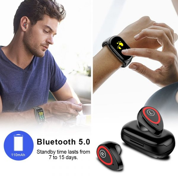 2-in-1 M1 Bluetooth Headset and Fitness Tracker Smart Bracelet_4