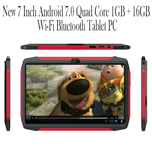 New 7 Inch Android 7.0 Quad Core 1GB + 16GB Wi-Fi Bluetooth Tablet PC_4