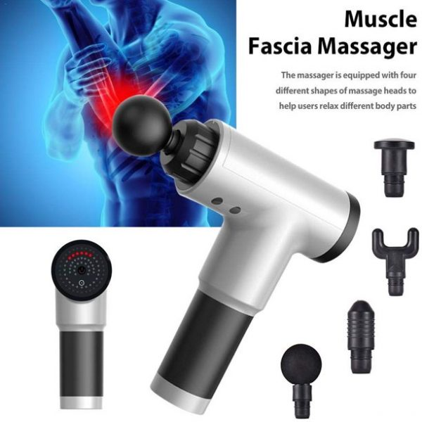 Rechargeable Electric Deep Muscle Tissue Massage Gun with 4 Massage Heads_11