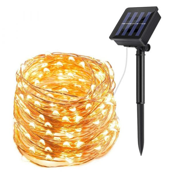 Waterproof Outdoor Solar LED Strip Mini String Lights 10M_0