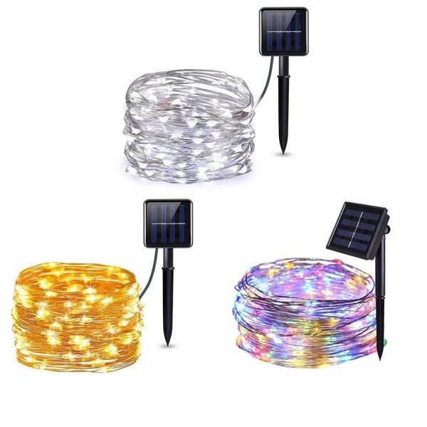Waterproof Outdoor Solar LED Strip Mini String Lights 10M_7