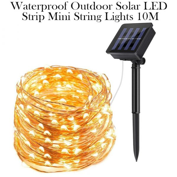 Waterproof Outdoor Solar LED Strip Mini String Lights 10M_23