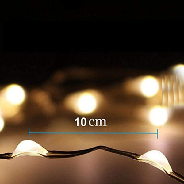 Waterproof Outdoor Solar LED Strip Mini String Lights 10M_12