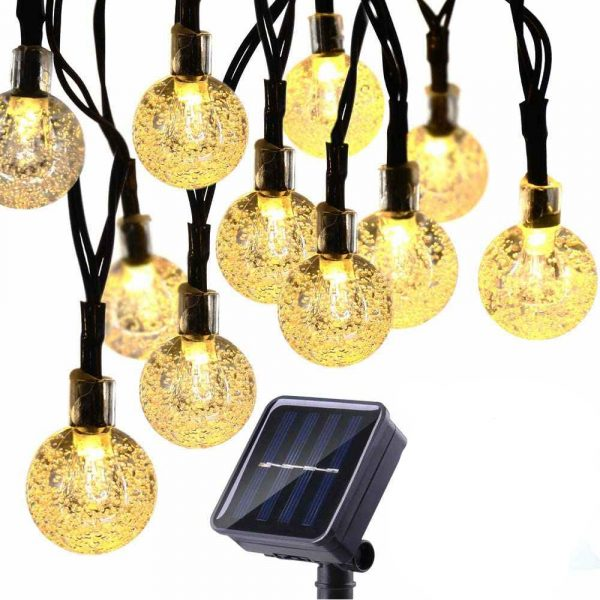 20/50 LED Solar Powered Outdoor Glass Ball Lamp_0