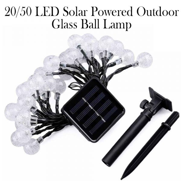 20/50 LED Solar Powered Outdoor Glass Ball Lamp_8