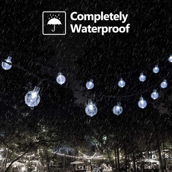 20/50 LED Solar Powered Outdoor Glass Ball Lamp_9
