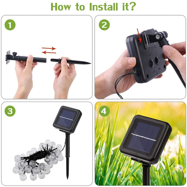 20/50 LED Solar Powered Outdoor Glass Ball Lamp_11