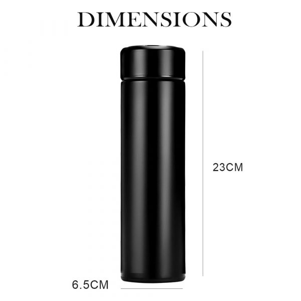 500ML Stainless Steel Insulated Hot and Cold Smart Water Bottle, with Temperature LCD Display_5