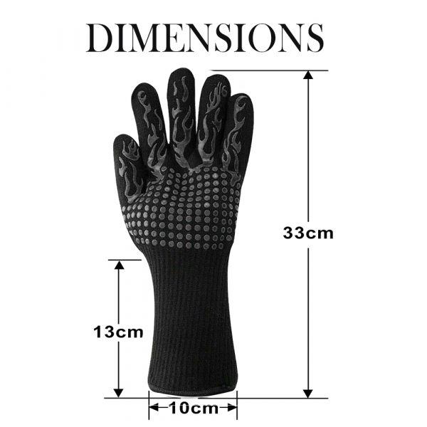 1 Pair 2 Hand 500 degrees High Temperature Resistant Food Oven Glove_3