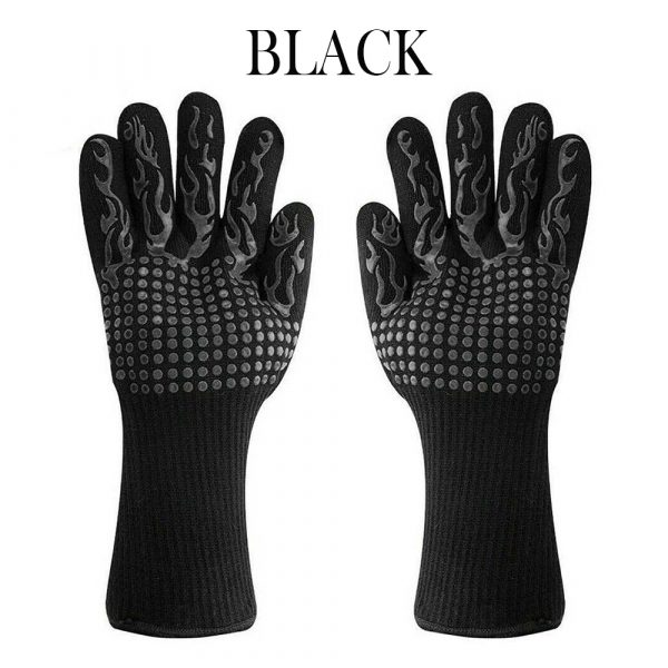 1 Pair 2 Hand 500 degrees High Temperature Resistant Food Oven Glove_9