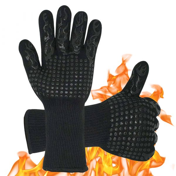 1 Pair 2 Hand 500 degrees High Temperature Resistant Food Oven Glove_0