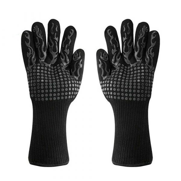1 Pair 2 Hand 500 degrees High Temperature Resistant Food Oven Glove_4