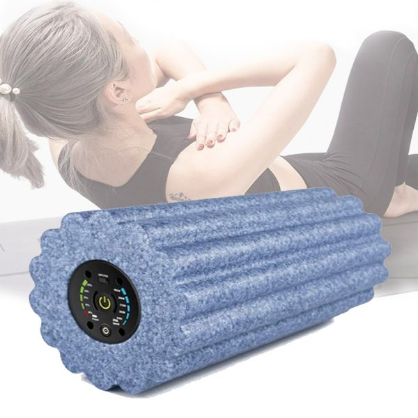 Yoga Foam Roller Electric Vibration Rechargeable Adjustable Massager Yoga Fitness Pain Therapy Fitness Shaping_2