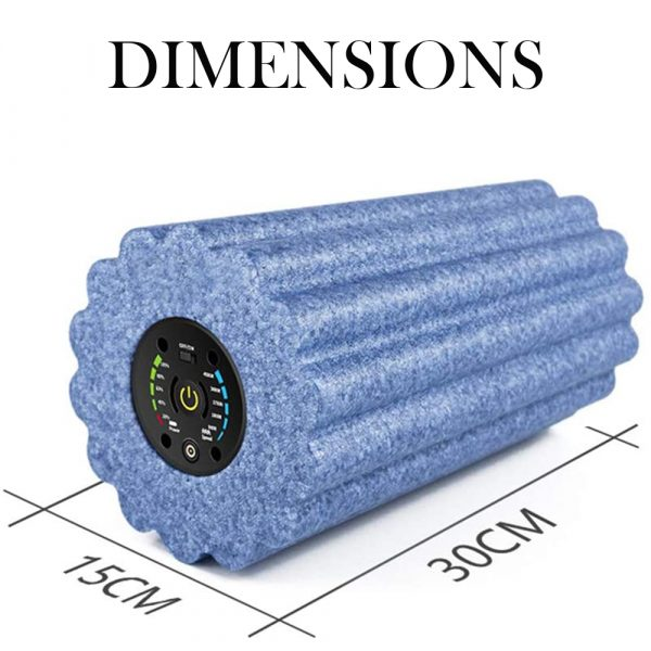 Yoga Foam Roller Electric Vibration Rechargeable Adjustable Massager Yoga Fitness Pain Therapy Fitness Shaping_4