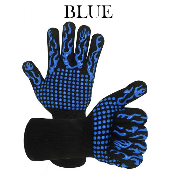 1 Pair 2 Hand 500 degrees High Temperature Resistant Food Oven Glove_11