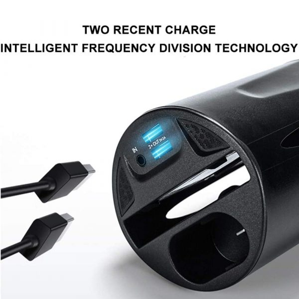 Qi Enabled Wireless Car Charger Cup with USB Output 10W Fast Charging for Qi Enabled Phones and Air Pods_2