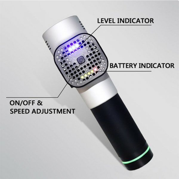 Percussion Therapy Massage Gun Professional Body Massage Electric Vibrating Massager Tool with 9 Heads_3