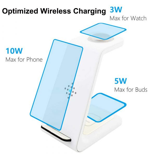 Folding mobile phone wireless charging bracket three in one_5