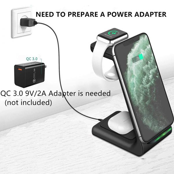 Folding mobile phone wireless charging bracket three in one_7