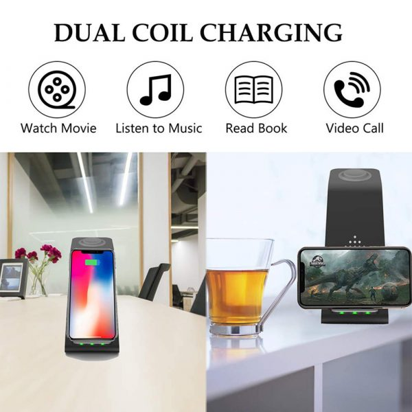 Folding mobile phone wireless charging bracket three in one_8