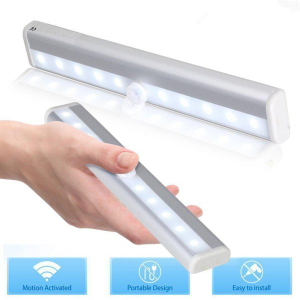 Smart Motion Sensor LED Night Light 6/10 LED Human Body Induction Detector for Home Bed Kitchen Cabinet Wardrobe Wall Lamp_12