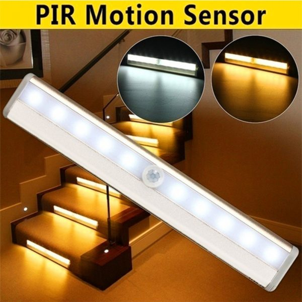 Smart Motion Sensor LED Night Light 6/10 LED Human Body Induction Detector for Home Bed Kitchen Cabinet Wardrobe Wall Lamp_13