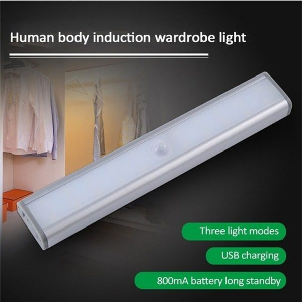 Smart Motion Sensor LED Night Light 6/10 LED Human Body Induction Detector for Home Bed Kitchen Cabinet Wardrobe Wall Lamp_3