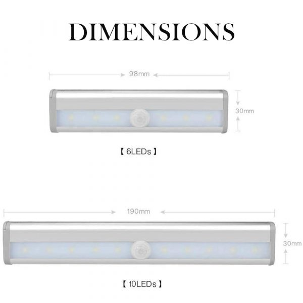Smart Motion Sensor LED Night Light 6/10 LED Human Body Induction Detector for Home Bed Kitchen Cabinet Wardrobe Wall Lamp_8