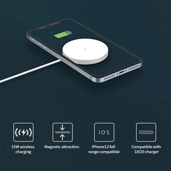 15W Magnetic Wireless QI Charger Cable for iPhone 12 Pro12 Mini 12 Pro Max 12_11