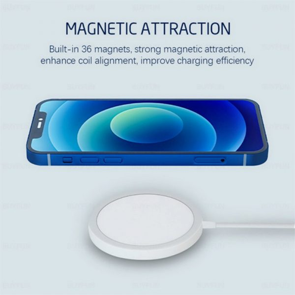 15W Magnetic Wireless QI Charger Cable for iPhone 12 Pro12 Mini 12 Pro Max 12_5