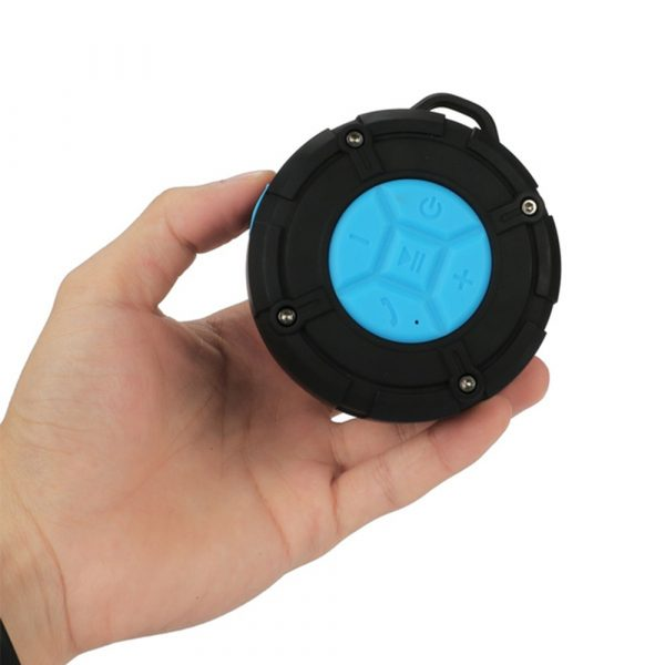 Waterproof Bluetooth Speaker with HD Sound, 6H Playtime Portable Speaker with Suction Cup, Built-in Microphone_1