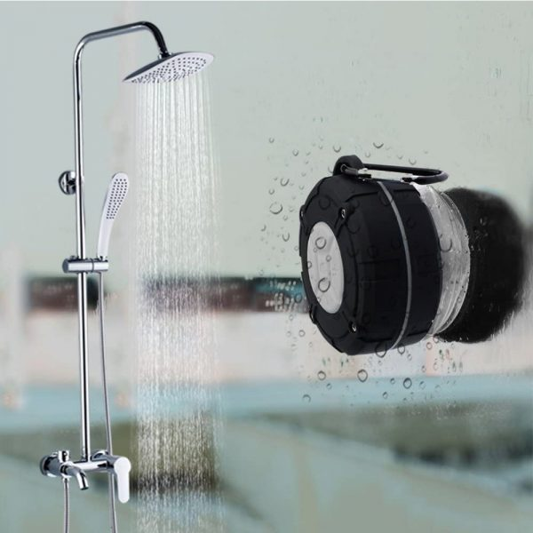 Waterproof Bluetooth Speaker with HD Sound, 6H Playtime Portable Speaker with Suction Cup, Built-in Microphone_4