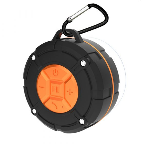 Waterproof Bluetooth Speaker with HD Sound, 6H Playtime Portable Speaker with Suction Cup, Built-in Microphone_5