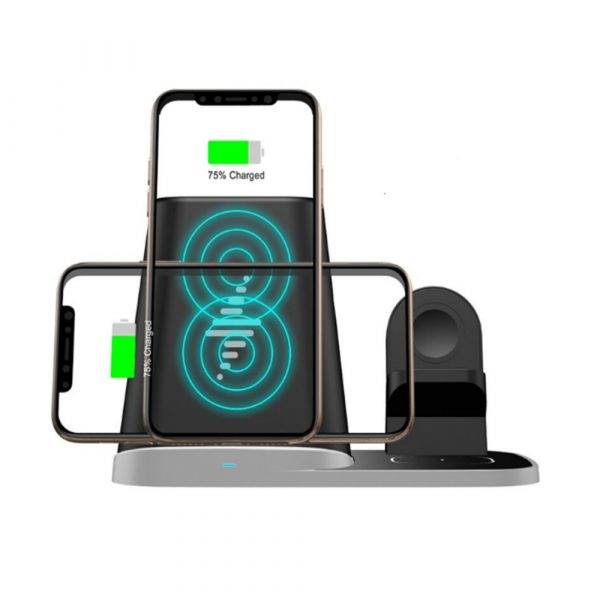 4-in-1 Universal Vertical Wireless QI Charging Station and Storage Box for APPLE QI Devices_4