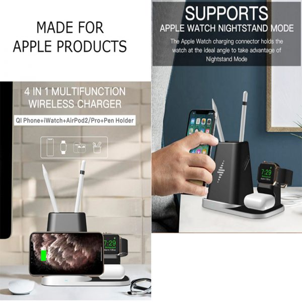 4-in-1 Universal Vertical Wireless QI Charging Station and Storage Box for APPLE QI Devices_5
