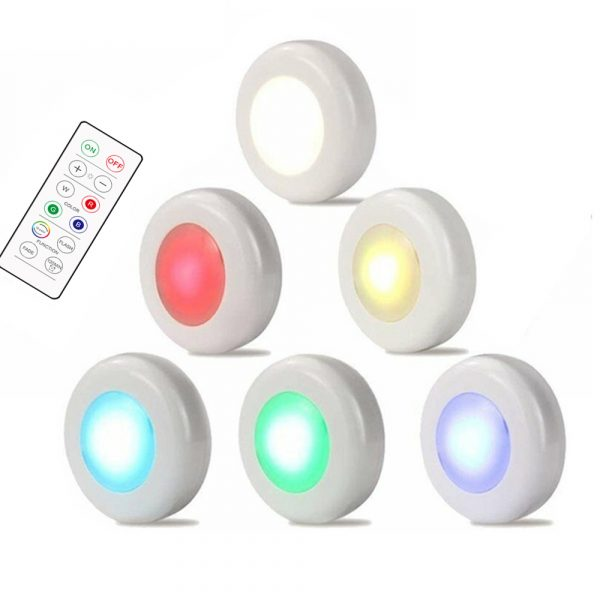 3 Remote Control Closet Wardrobe Cabinet Bedside Emergency LED Battery Operated Night Light_0