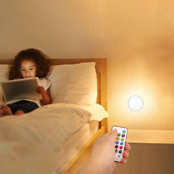 3 Remote Control Closet Wardrobe Cabinet Bedside Emergency LED Battery Operated Night Light_9