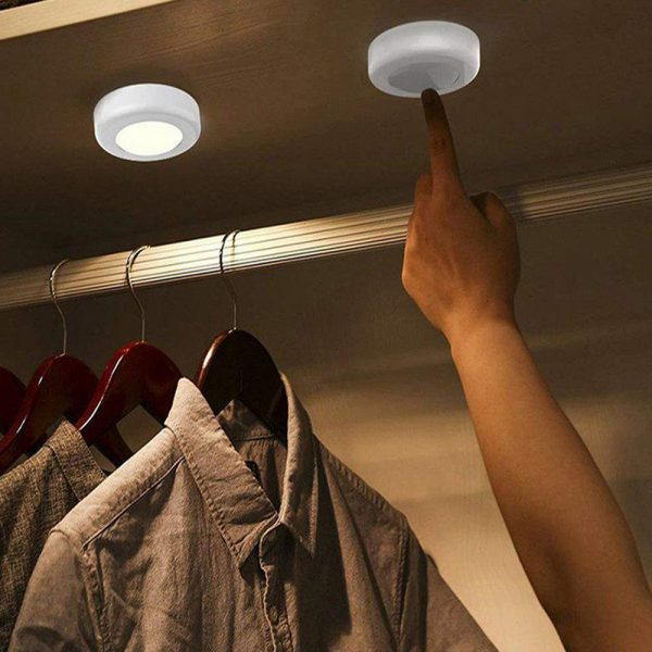 3 Remote Control Closet Wardrobe Cabinet Bedside Emergency LED Battery Operated Night Light_10