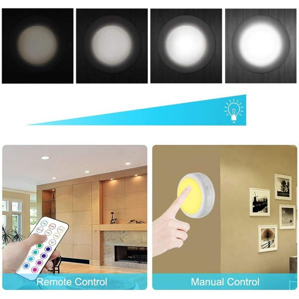 3 Remote Control Closet Wardrobe Cabinet Bedside Emergency LED Battery Operated Night Light_14