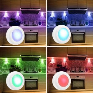 3 Remote Control Closet Wardrobe Cabinet Bedside Emergency LED Battery Operated Night Light