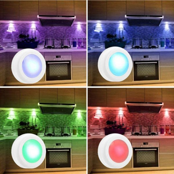 3 Remote Control Closet Wardrobe Cabinet Bedside Emergency LED Battery Operated Night Light_1