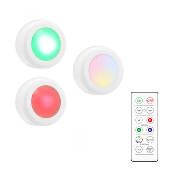3 Remote Control Closet Wardrobe Cabinet Bedside Emergency LED Battery Operated Night Light_13